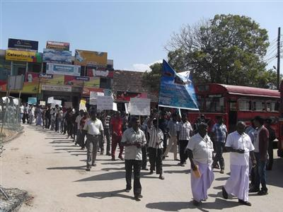 Fisher folks of Vadamarachchi hold Protest Demonstration